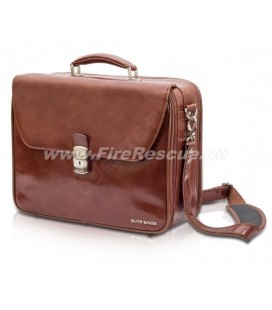 ELITE BAGS HOME CALLS DELUXE BAG DOCTOR'S - BROWN
